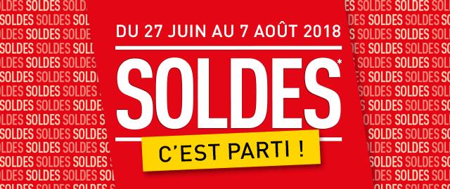Les Soldes démarrent du 27 Juin au 4 Août 2018